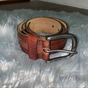 Fossil Brown Leather Belt Size 36